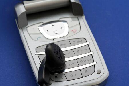hands free: Tel�fono celular con manos libres