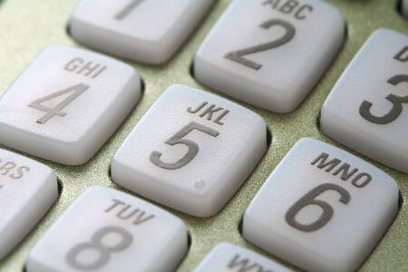 電話のキーパッドをクローズ アップ