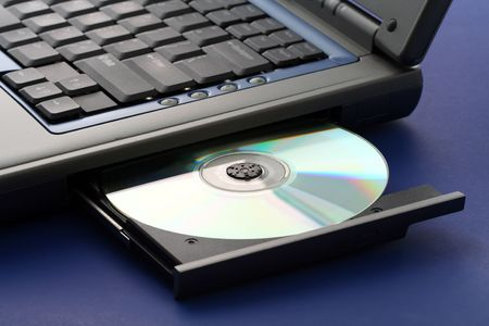 cd: CD ROM tray on a laptop