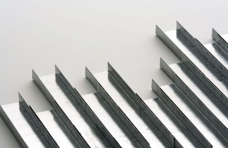 Staples in rows, symbolizes business chartgrowth