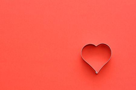 Heart symbol in red, symbolizes loveromance