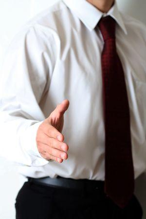 Business hand shake Banco de Imagens