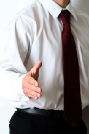 congratulate: Business hand shake Stock Photo