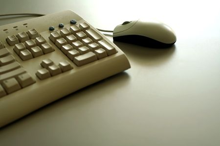 A mouse and a keyboard