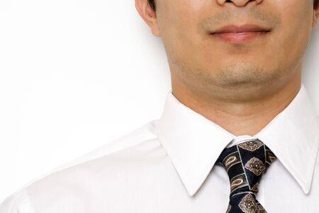 フォーマルなビジネス摩耗を持ったビジネスマン 写真素材