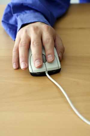 techie: A businessman using a mouse