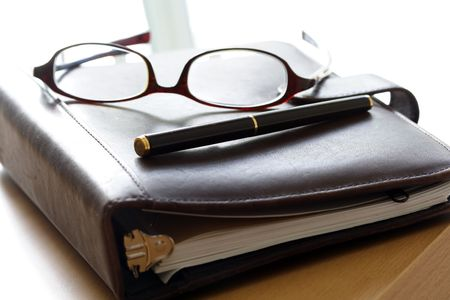 Een organisator en een bril