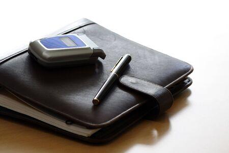 todo: T�l�phone cellulaire et organisateur Banque d'images