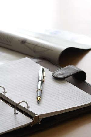 Notitieboekje in een kantoor