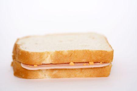 Llanura sandwich de jamón Foto de archivo - 448985