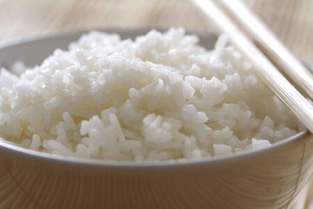 Closeup of a bowl of rice