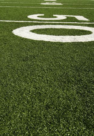 yardline: Fifty yard line of an american football field