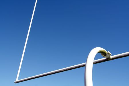 American football goal post Stock Photo