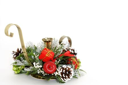 candle holder: Christmas candle holder decoration
