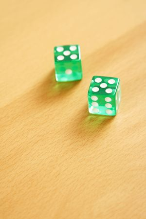 Two dice on table Stock Photo - 507253