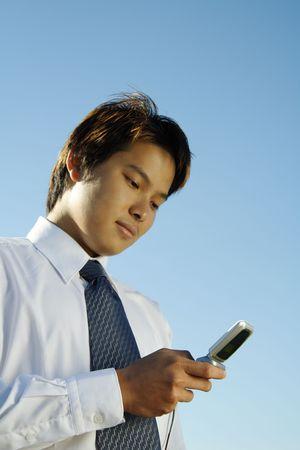 Businessman making a phone call Stock Photo