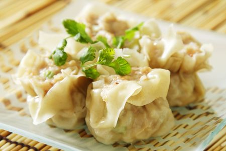 steamed: Chinese steamed shumay dimsum dish Stock Photo