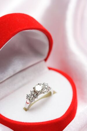 pricey: A close up shot of a diamond wedding ring