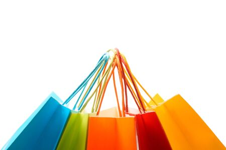 fashion bag: A shot of a bunch of colorful shopping bags