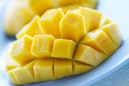 mango: A strzał z bliska, dojrzałe i soczyste mango