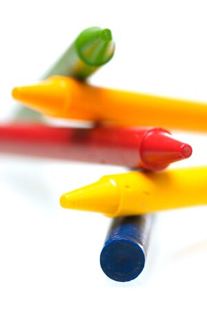 creatively: A shot of colorful crayons stacked creatively Stock Photo