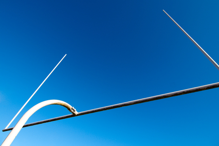punt: A shot of american football goal post