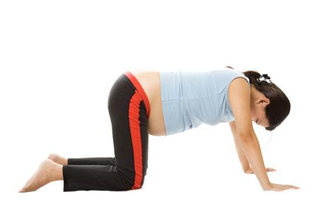 A shot of a pregnant woman exercising Stock Photo - 1703373