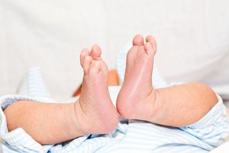 A shot of a newborn babys feet