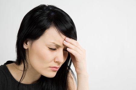 ragazza malata: Un tiro di un malato e ha sottolineato imprenditrice