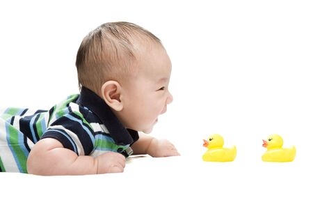 An isolated shot of a happy cute asian baby  Stock Photo - 2820341