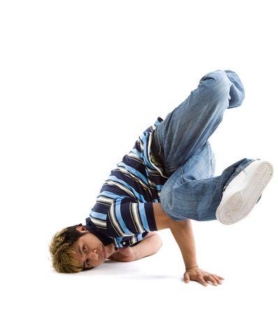 A shot of a hispanic male breakdancing photo