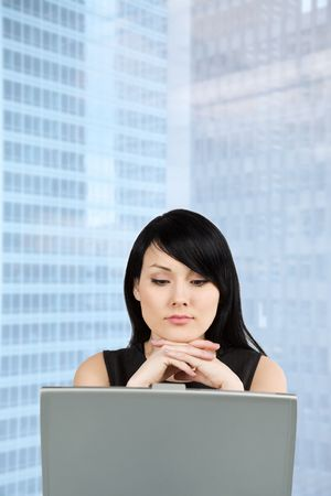 A shot of a beautiful businesswoman working on her laptop at the office Stock Photo - 3151313