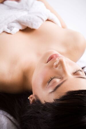 A beautiful asian woman in a spa salon Stock Photo - 3686901