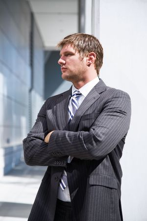 A shot of a confident caucasian businessman thinking Stock Photo - 3720735