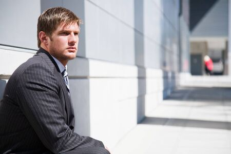 A shot of a thinking confident caucasian businessman Stock Photo - 3720717