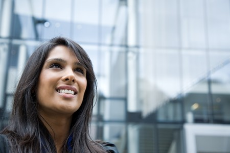 A shot of an indian businesswoman talking on the phone  outdoor Stock Photo - 4443715