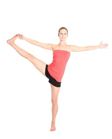 A shot of a caucasian woman practicing yoga Stock Photo - 4443724