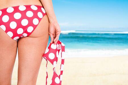 A shot of a girl on a tropical beach Stock Photo - 4469740