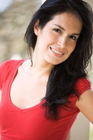 A shot of a beautiful hispanic woman outdoor in summer Stock Photo - 4662520