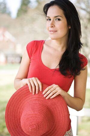 A shot of a beautiful hispanic woman outdoor in summer Stock Photo - 4662523