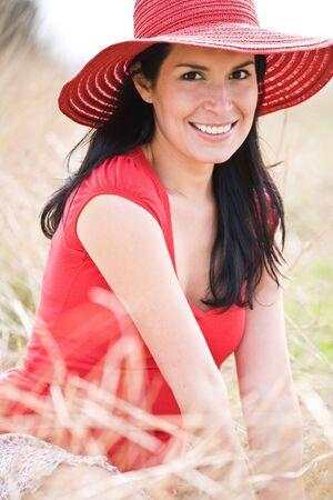 A beautiful hispanic woman outdoor during summer Stock Photo - 4662524
