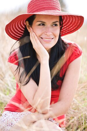 A beautiful hispanic woman outdoor during summer Stock Photo - 4662521