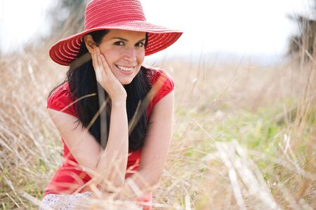 A shot of a beautiful hispanic woman outdoor in summer Stock Photo - 4739773