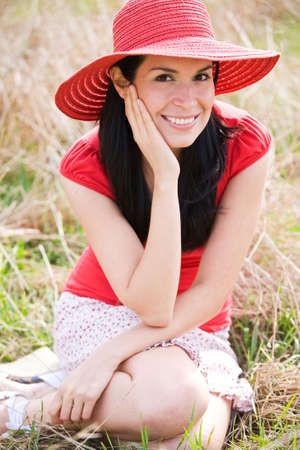 A shot of a beautiful hispanic woman outdoor in summer Stock Photo - 4739778