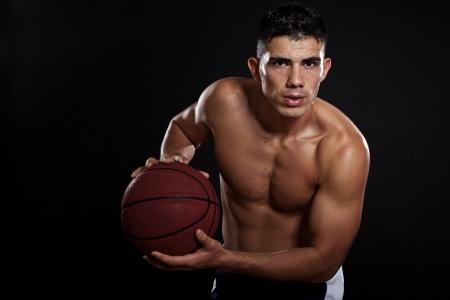 hispanic male: A portrait of a hispanic basketball player