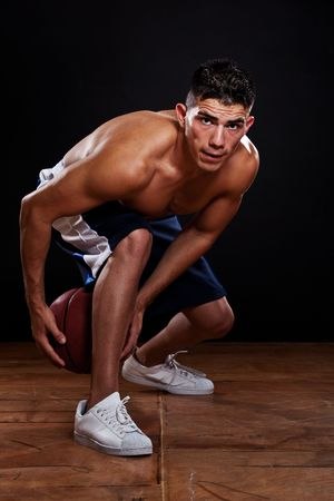 A portrait of a hispanic basketball player photo