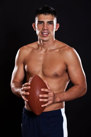 mexican ethnicity: A portrait of a hispanic american football player