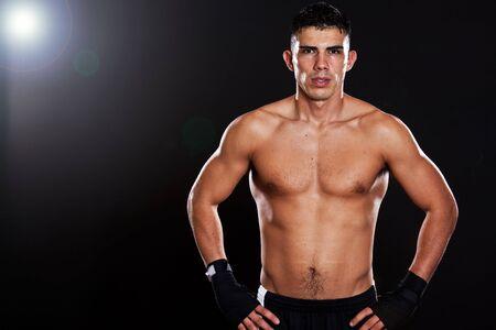 A portrait of a hispanic male boxer photo