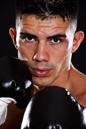 A portrait of a hispanic male boxer photo