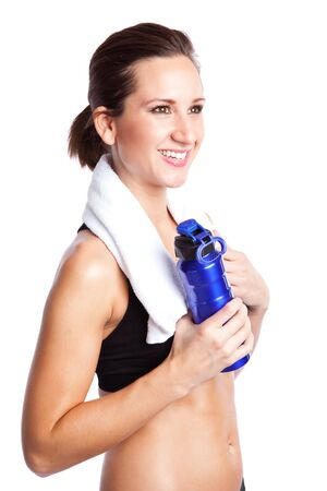 An isolated shot of a beautiful sporty caucasian woman Stock Photo - 6002704